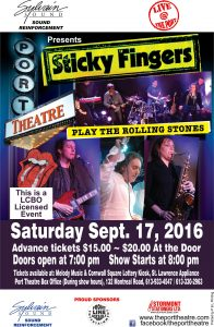 the Port Theatre - Sticky Fingers @ Port Theatre | Cornwall | Ontario | Canada
