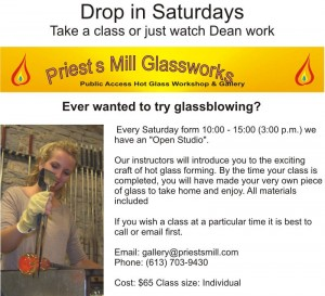 Priests Mill Glassworks - Drop-In Saturdays @ Priests Mill Glassworks - Alexandria | Alexandria | Ontario | Canada