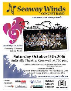 "Aultsville Theatre - Seaway Winds Concert Band - ""Sweet Sixteen"" @ Aultsville Theatre | Cornwall | Ontario | Canada"