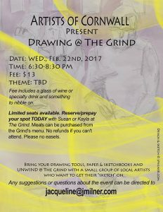 Drawing @ the Grind - Artists of Cornwall @ the Grind Cafe & Wine Bar | Cornwall | Ontario | Canada