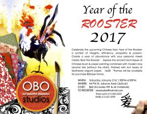 """""""Year of the Rooster"""" Workshop @ OBO Studios 