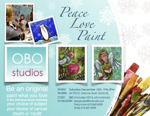 Peace, Love, Paint Workshop - OBO Studios @ OBO Studios | Cornwall | Ontario | Canada