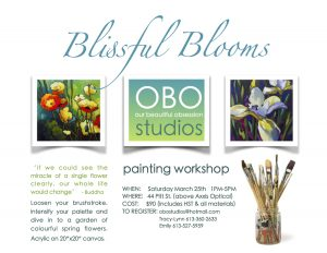 """Blissful Blooms"" Workshop @ OBO Studios 