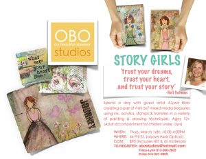 """Story Girls"" Workshop @ OBO Studios 