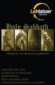 Holy Sabbath - Black Sabbath Tribute @ La Maison Tavern | Cornwall | Ontario | Canada