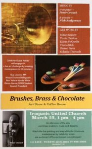 """Brushes, Brass & Chocolate"" - Art Show & Coffee House @ Iroquois United Church 