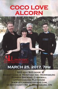 Coco Love Alcorn - St. Lawrence Acoustic Stage Performances Inc. @ Upper Canada Playhouse | Morrisburg | Ontario | Canada