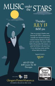 Music Under the Stars @ Glengarry Pioneer Museum | Dunvegan | Ontario | Canada