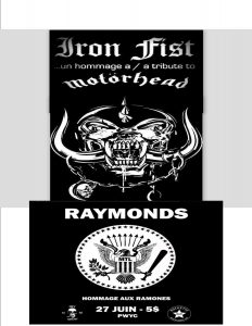 Tributes To Motorhead and The Ramones, Iron Fist and Raymonds @ The Port Theatre | Cornwall | Ontario | Canada